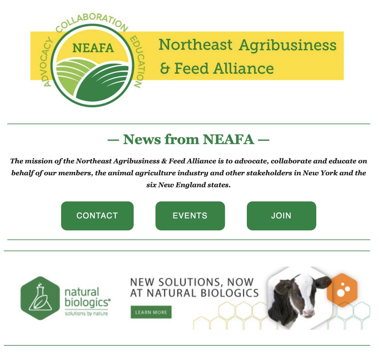 NEAFA Member Highlight Features Natural Biologics