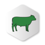 Green beef cow Icon