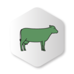 Green Dairy cow Icon