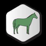 Green Horse Icon