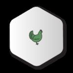 Green Chicken Icon